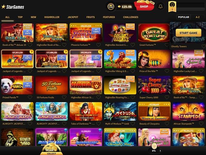 start game casino online