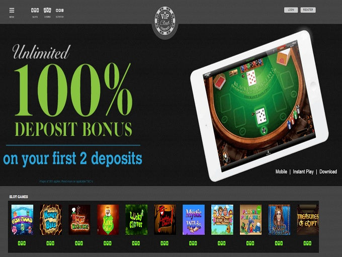 casino games at the vip casino