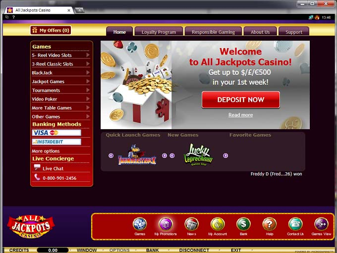 All Jackpots Casino Review & Ratings