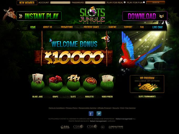 slots jungle casino bonus code