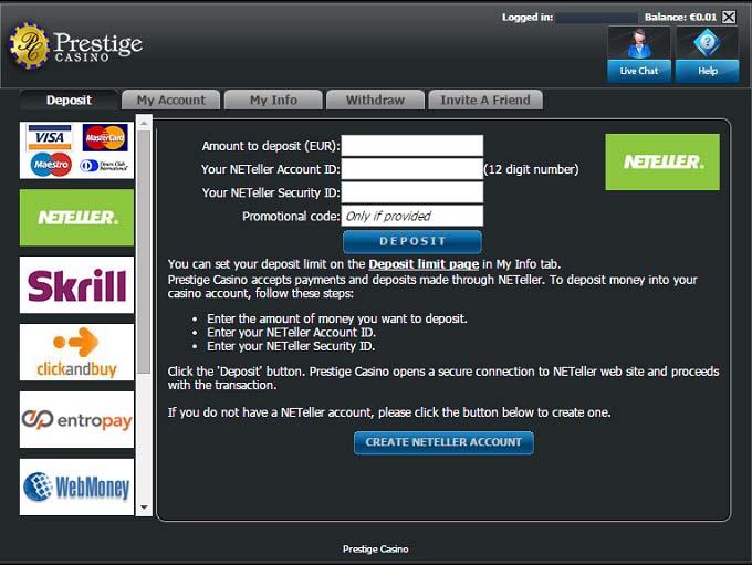 casino prestige online