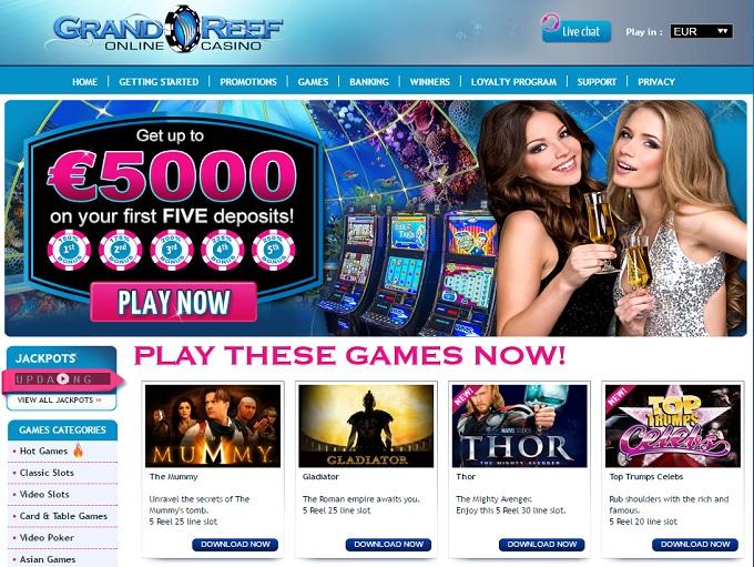 Grand Reef Casino Slots Customer Support