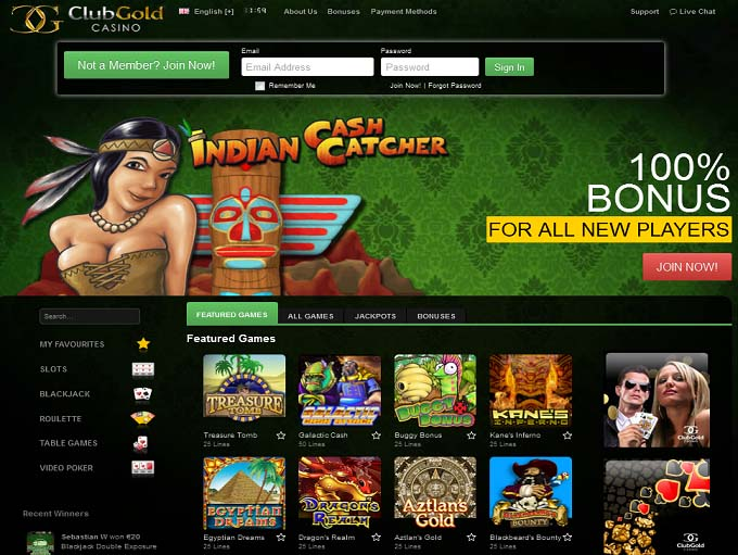 club gold casino online
