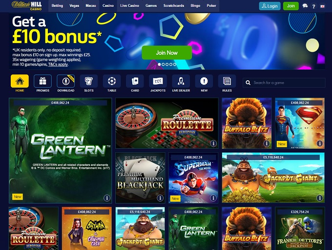 william hill online casino game twist login