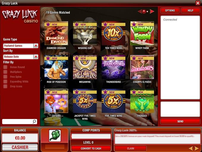Crazy Luck Casino Login