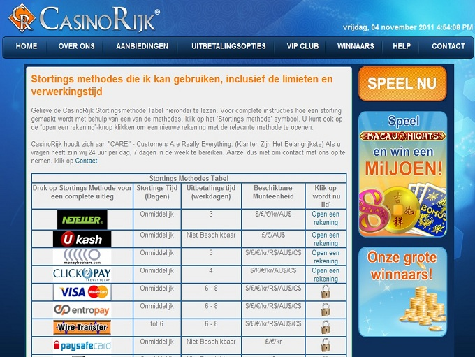 Casino Rijk Review