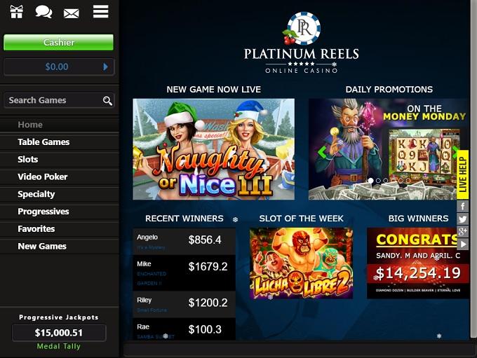 Platinum Reels Casino Download