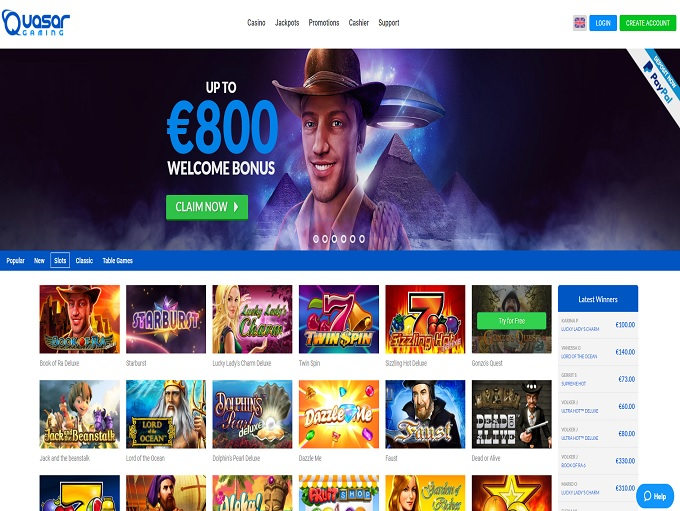 free online casino games biggest quasar