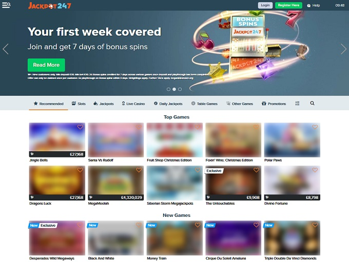 Jackpot247 Online Casino Review