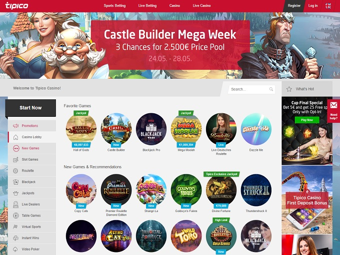 tipico online casino sizzling free games