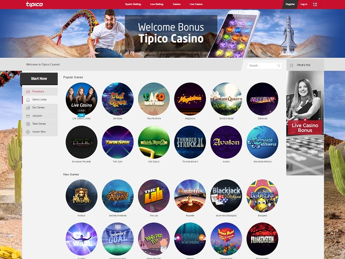 tipico online casino on9 games
