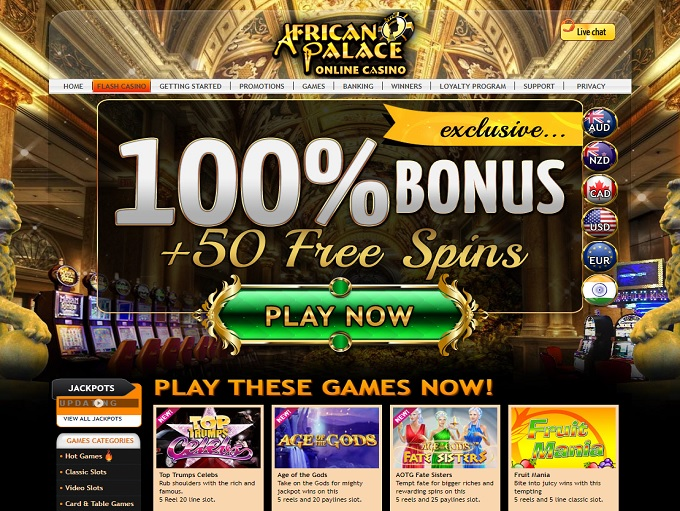 African Palace Casino Online Review With Promotions & Bonuses