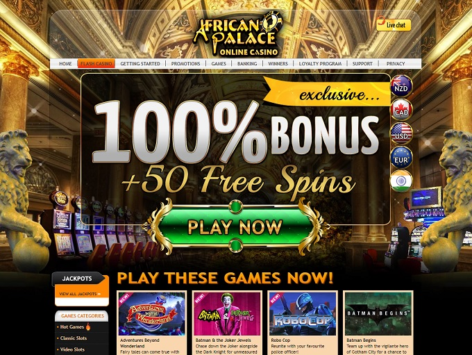 African Palace Casino Online Casino Review