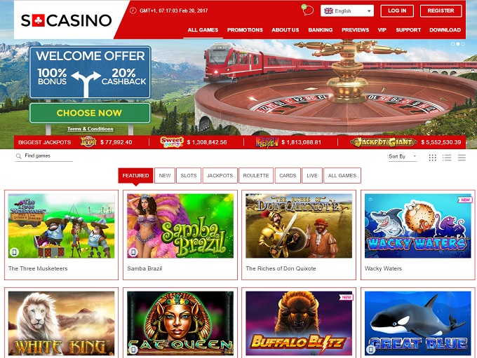 swiss online casino cashback scene