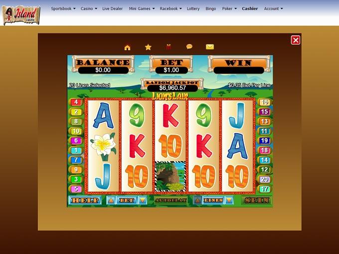 island casino online