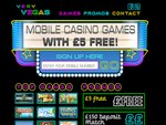 Very Vegas Mobile Casino Home Page