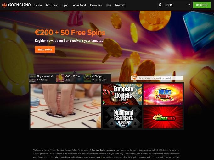 Kroon casino free spins