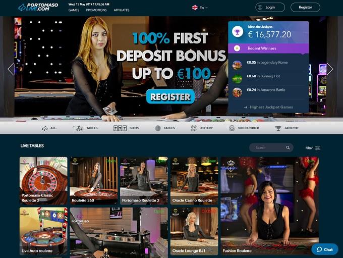 Portomaso live casinos