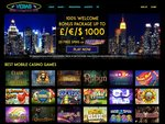 Vegas Mobile Casino Home Page