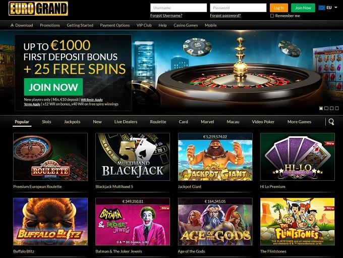 euro casino online games kazino