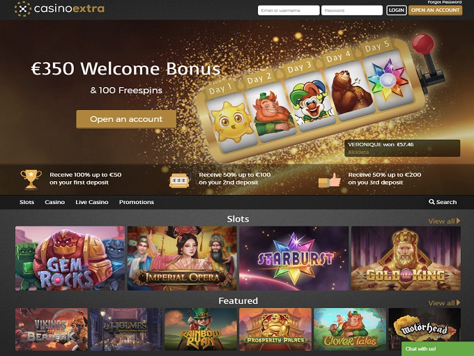Casino extra 50 free spins
