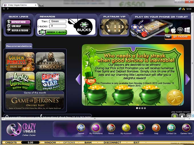 Free Download at Crazy Slots Casino