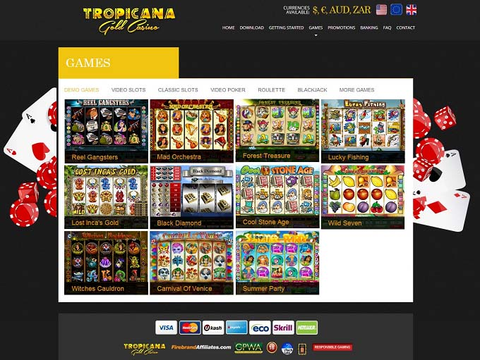 Tropicana Gold Casino Mobile