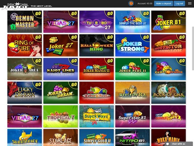 Hazardné hry v kasíne Kajot