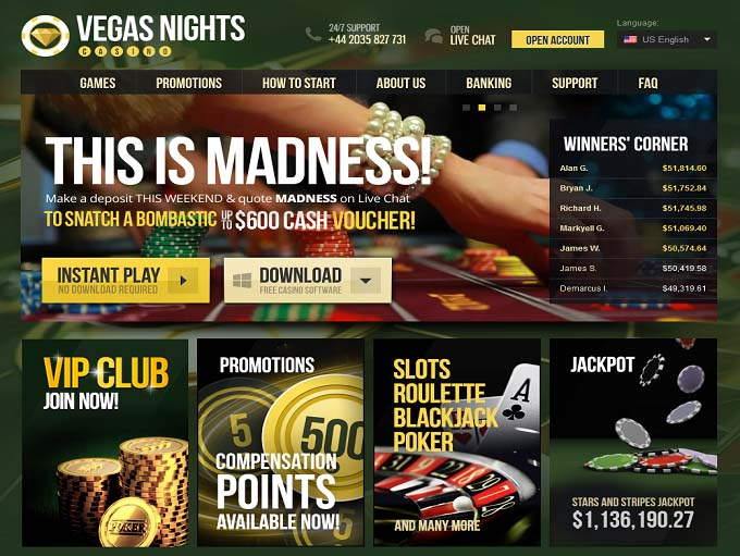 vegas nights casino online