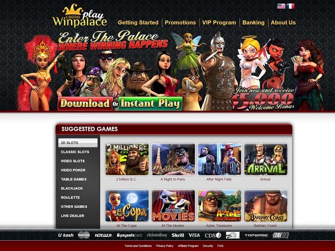 winpalace com login page