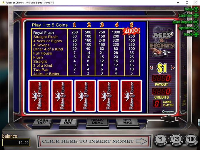 Palace Of Chance Online Casino