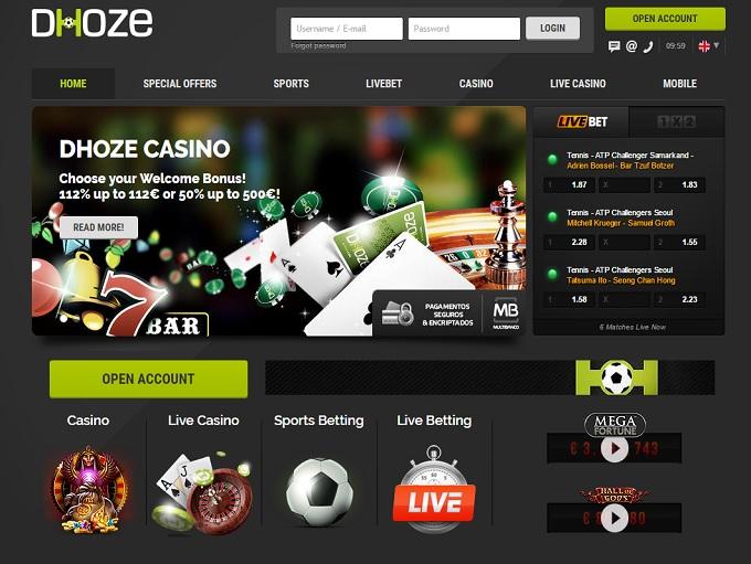 Dhoze Casino Review