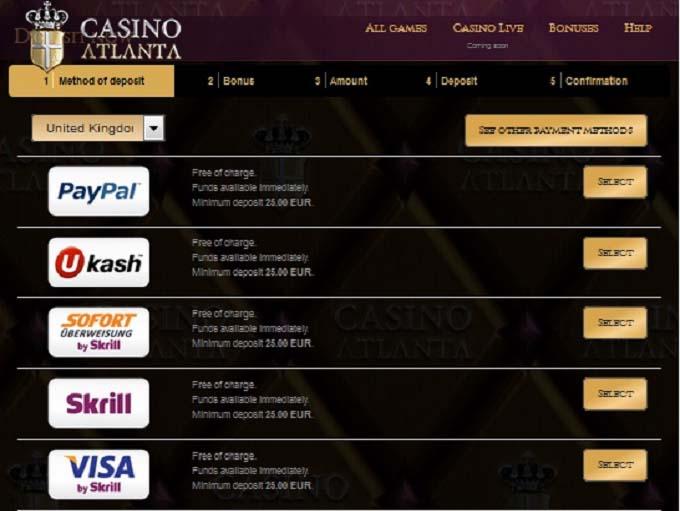 Casino Atlanta Bonus Code