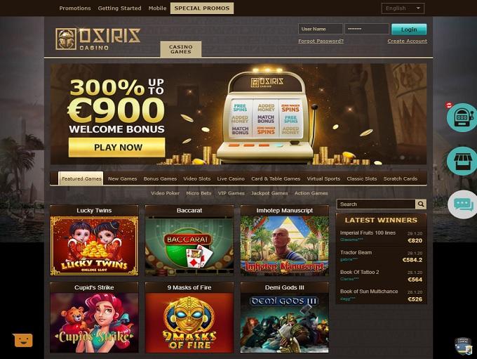 Osiris Online Casino