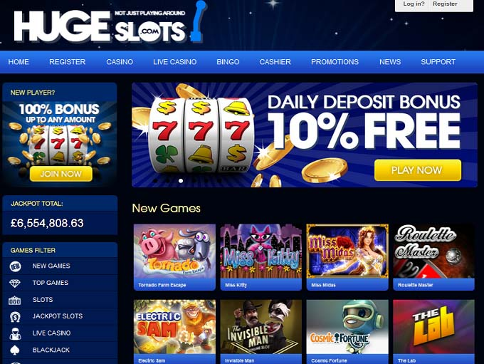 Huge Slots Casino Review