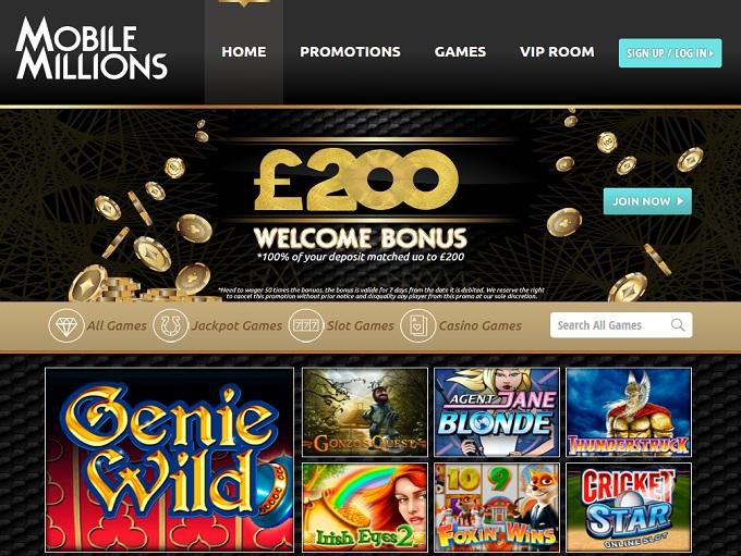 mobile millions casino no deposit bonus
