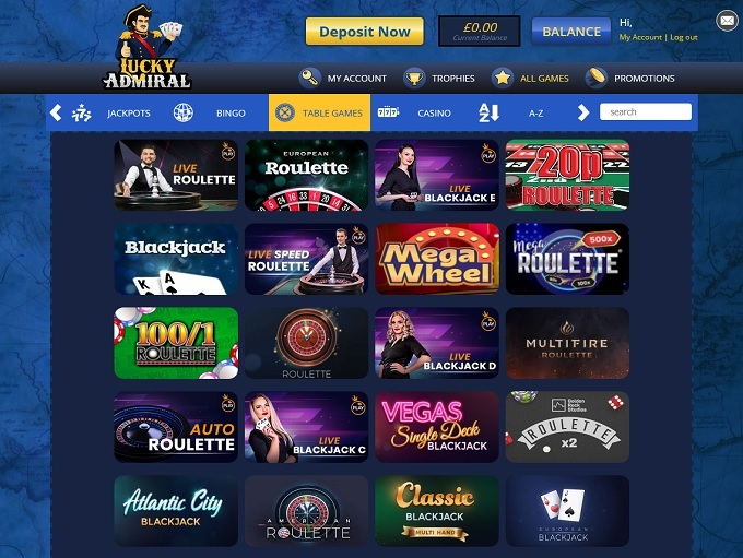Lucky Admiral Online Casino Review