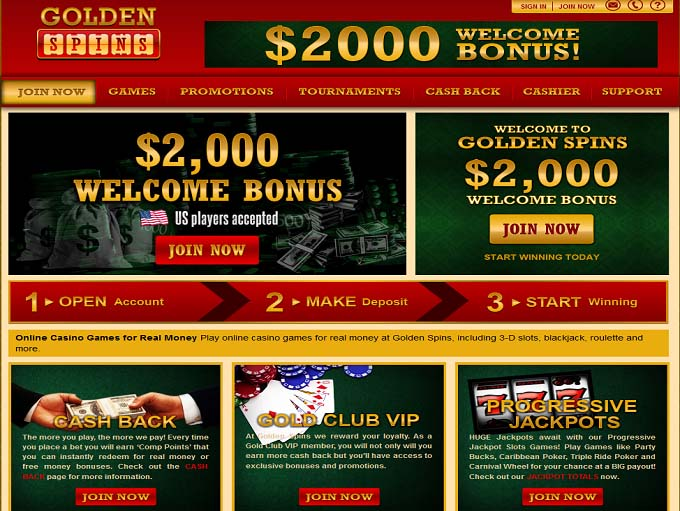 golden online casino free spin games