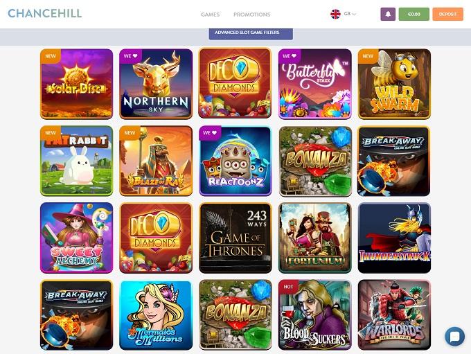 Chance Hill Casino No Deposit