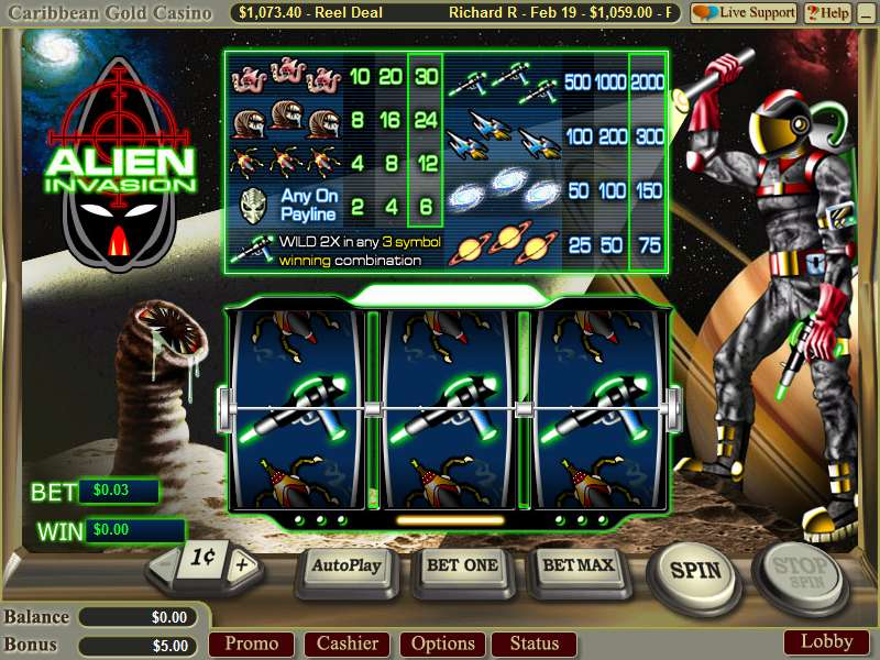 Alien Invasion by Wager Gaming