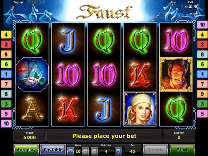 Faust Slot Free Play