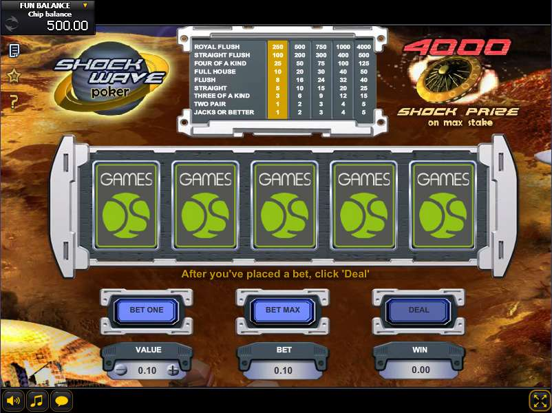 Casino shock wave games what casino games have the best odds for the player
