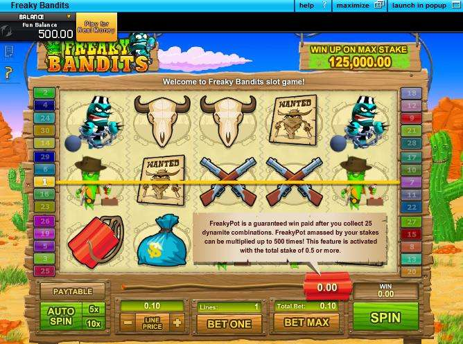 Freaky Bandits Slot - Play the Online Version for Free