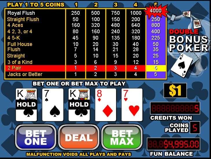 Free Double Double Bonus Video Poker