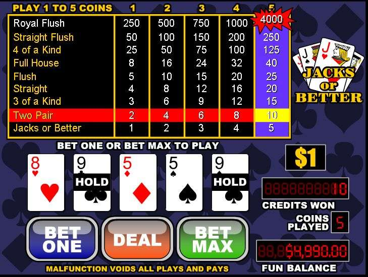 Spiele Jacks Or Better Video Poker - Video Slots Online