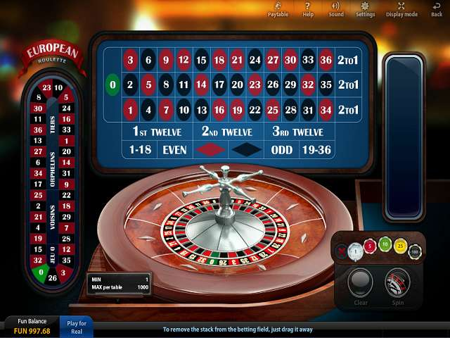 online casino poker european roulette play