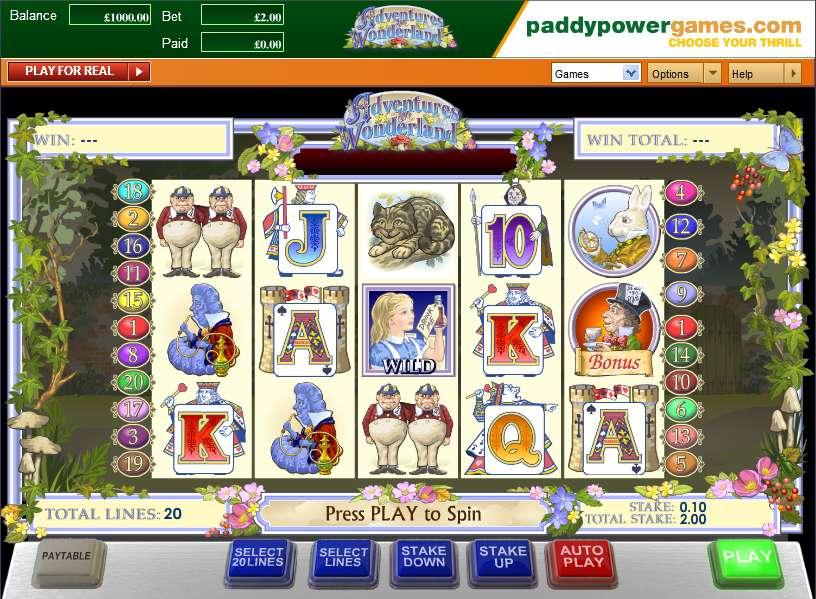 Play alice in wonderland slots online