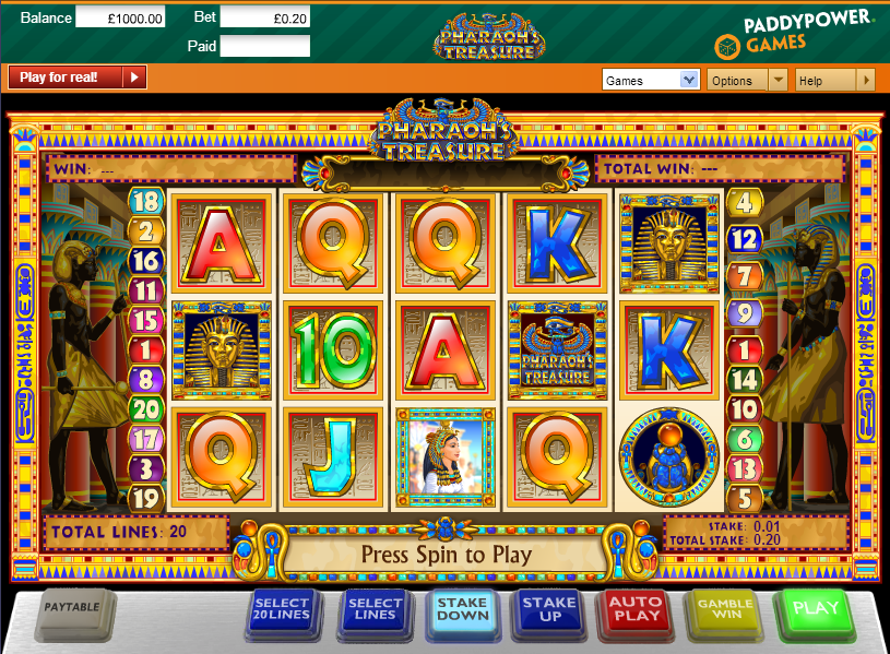 Fortune of The Pharaohs Slots Free Play & Real Money Casinos