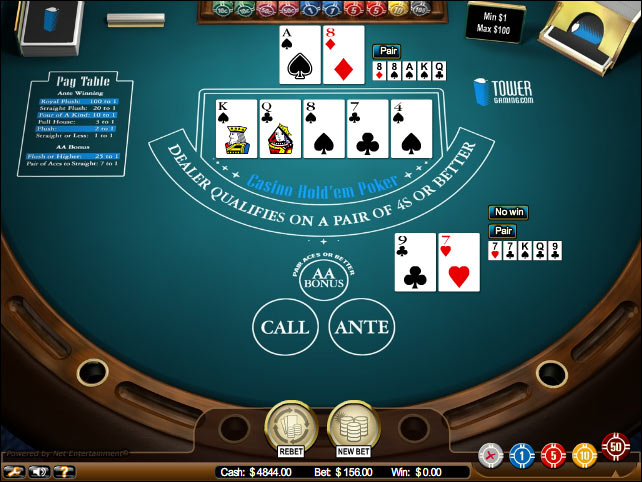 Casino Hold'em by NetEntertainment