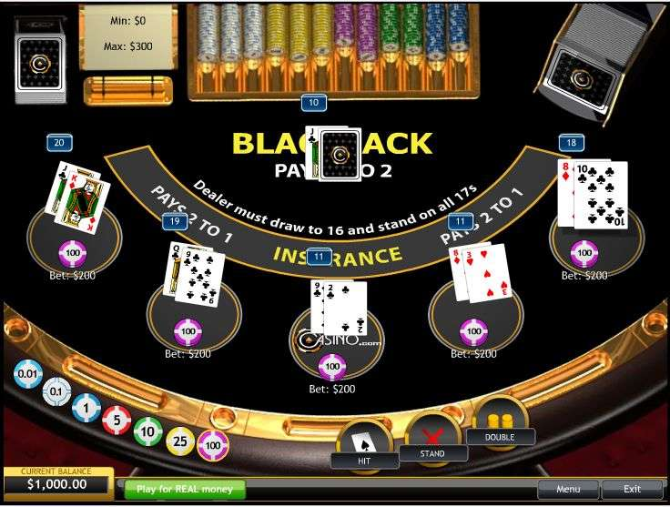 Blackjack (5 hand mode) by Playtech